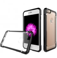 2 in 1 Clear matte PC back phone case for iPhone 6 Plus