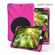 Rotated stand rubberized silicone case for iPad 9.7 2017